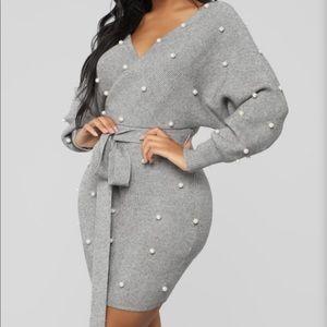 Fashion Nova sweater mini dress